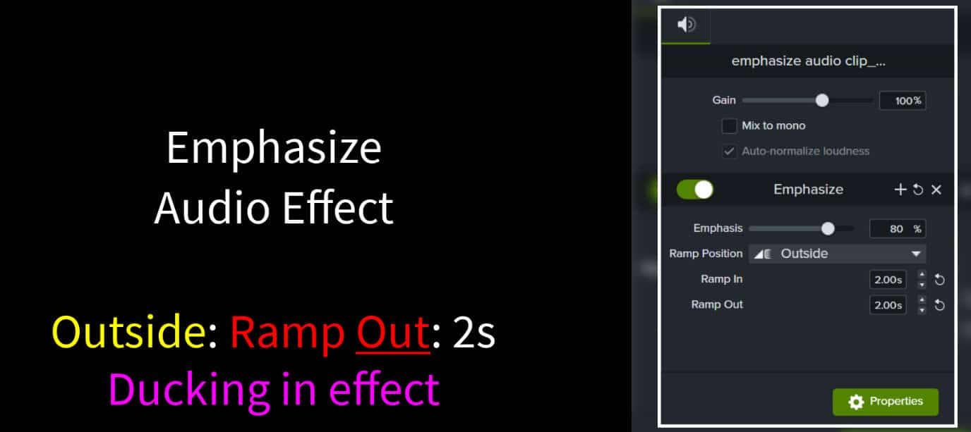 Emphasize Audio Effect