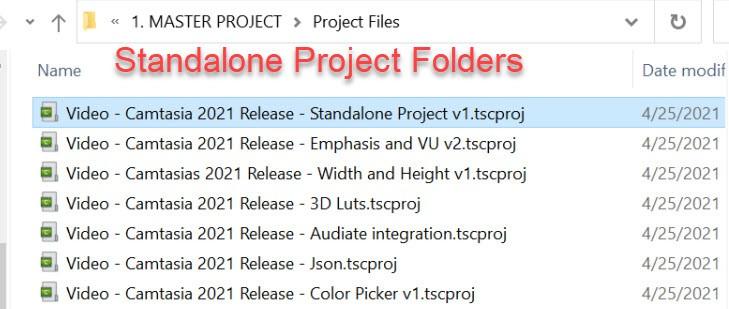 Standalone Project File